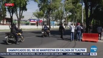 Damnificados del 19S retiran bloqueo en Calzada de Tlalpan