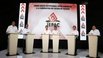 debaten candidatos gobierno yucatan