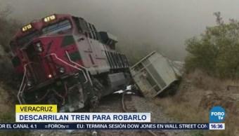 Descarrilan Tren Robarlo Veracruz