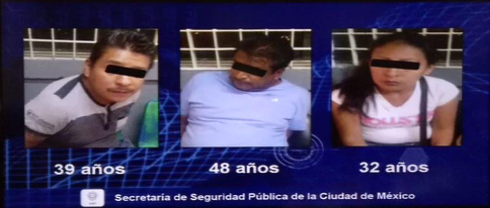 detienen hombres mujer robo celulares gustavo