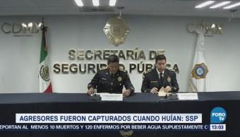 Detienen a dos personas por balacera en Peñón de los Baños