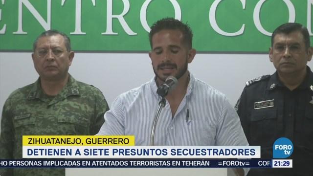 Detienen Siete Presuntos Secuestradores Zihuatanejo Guerrero