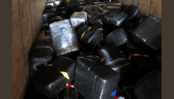 Ejército halla 4 toneladas de marihuana en un tráiler en Tamaulipas