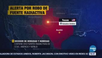 Emiten Alerta Robo Fuente Radiactiva Texas