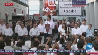 Epn Inaugura Terminal Aérea Acapulco Guerrero