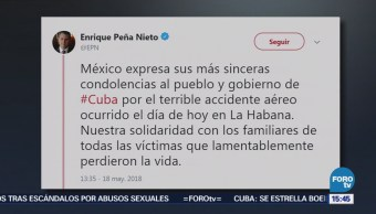 Epn Solidariza Víctimas Accidente Cuba