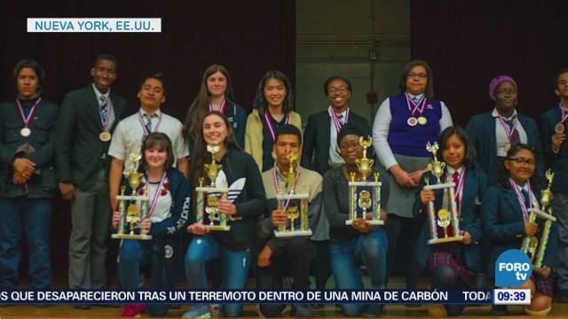 Estudiantes de origen mexicano destacan en concursos escolares en EU