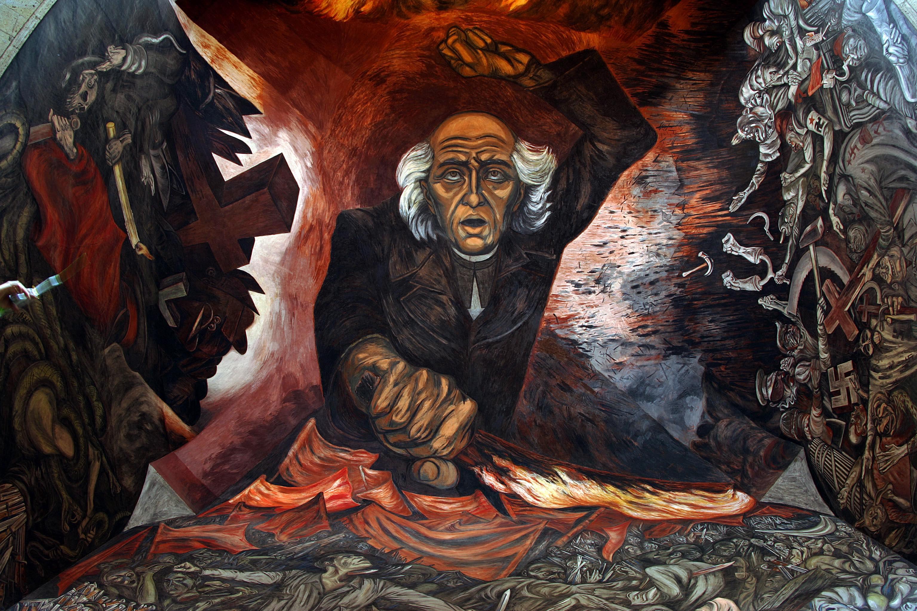 hidalgo-patria-mexico-mural-jose-clemente-orozco