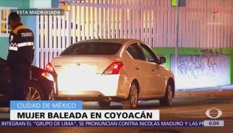 Hieren de bala a una mujer en Coyoacán