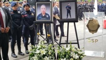 Rinden honores a 2 policías de la CDMX caídos en cumplimiento de su deber