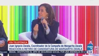Ignacio Zavala: Margarita tomó decisión después de análisis profundo