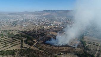 controlan 85 ciento incendio basurero hidalgo