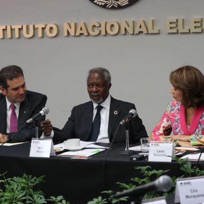 Violencia criminal, seria amenaza a democracia en México: Kofi Annan