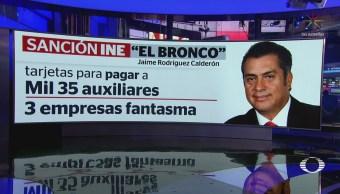 INE sanciona a Jaime Rodríguez Calderón