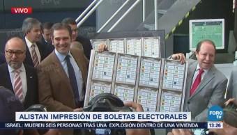 Inicia impresión de boletas de la elección Presidencial