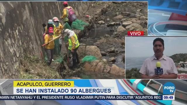 Instalan 90 albergues en Acapulco por temporada de huracanes
