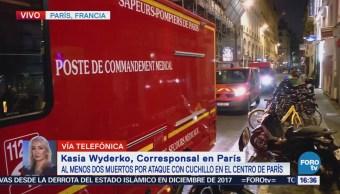 Investigan Ataque Cuchillo París Francia Crimen