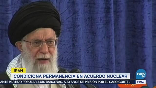 Irán condiciona su permanencia en el acuerdo nuclear