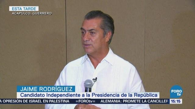 Jaime Rodríguez Alista Iniciativa Mochar Manos Corruptos