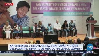 José Narro convive con niños del Hospital Infantil 'Federico Gómez'