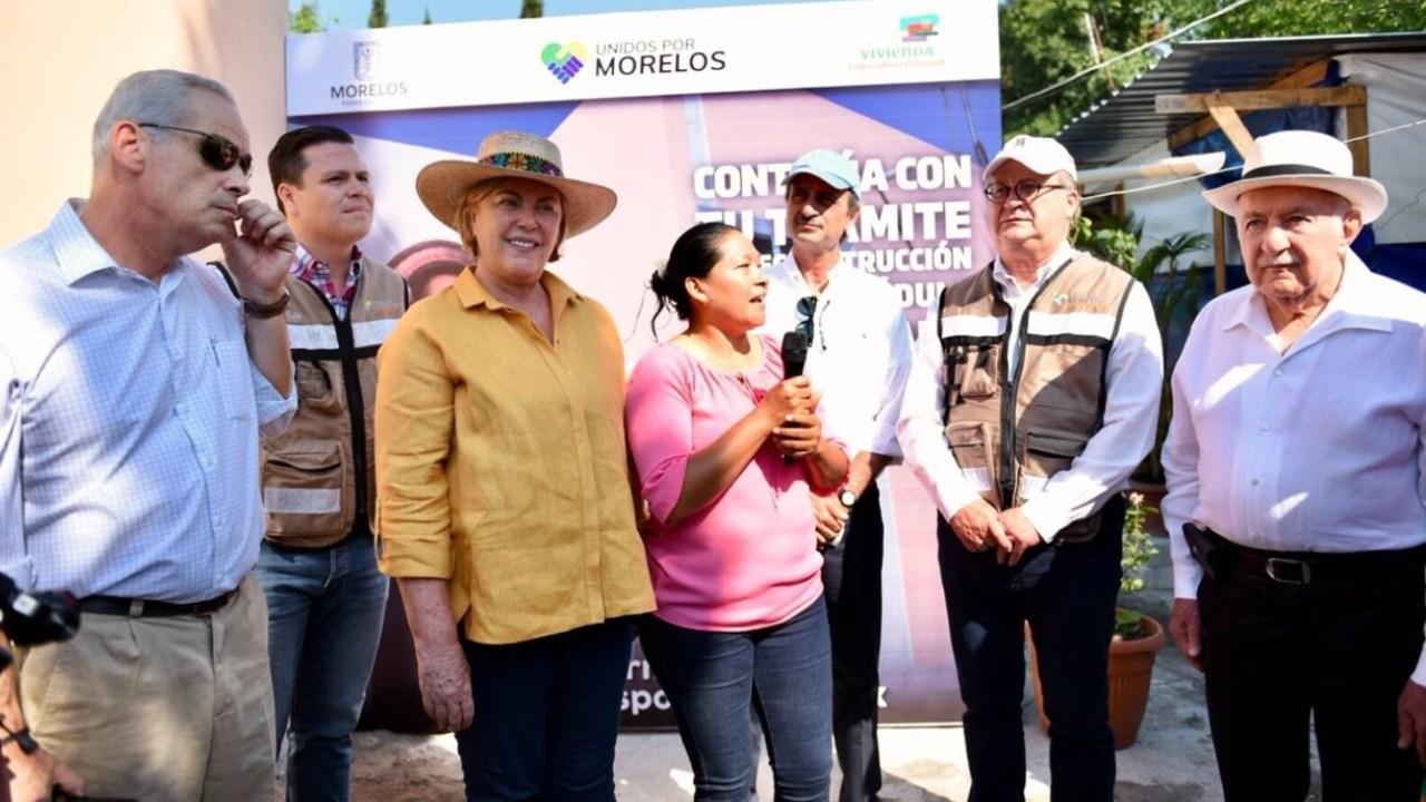 Entregan las primeras casas a comunidad de La Nopalera, afectada el 19S