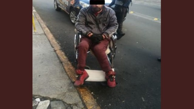 Detienen a ladrón en silla de ruedas en la colonia Doctores