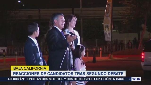 Las reacciones de los candidatos a la Presidencia de la República tras segundo debate