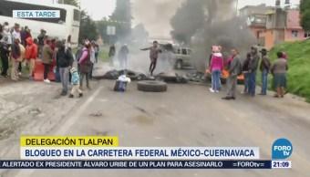 Levantan bloqueo en carretera México-Cuernavaca