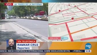 Liberan circulación en Paseo de la Reforma