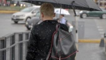 CDMX registrará lluvia con posible caída de granizo durante domingo
