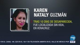 Localizan Cuerpo Mujer Desparecida Veracruz Karen Nataly Guzmán