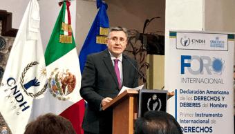 Presidente de CNDH pide prevalezca paz en proceso electoral