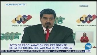 Maduro es proclamado presidente de Venezuela por seis años más