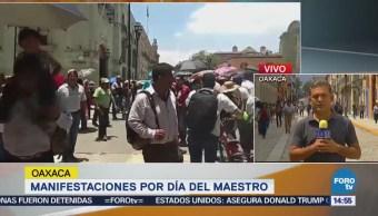 Maestros Entregan Pliego Peticiones Autoridades Oaxaca