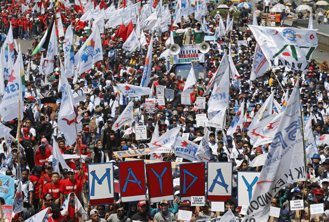 Manifestaciones por el Día del Trabajo en Indonesia. (AP)