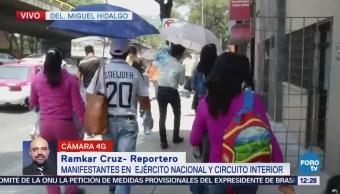 Manifestantes avanzan por avenida Ejército Nacional, CDMX