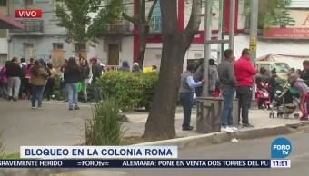Manifestantes liberan circulación en avenida Cuauhtémoc, CDMX