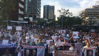 con marcha silenciosa recuerdan desaparecidos guadalajara jalisco