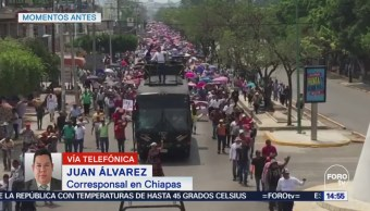 Marcha Magisterial Tuxtla Gutiérrez, Chiapas