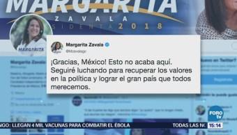 Margarita Zavala agrade apoyo de simpatizantes
