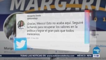 Margarita Zavala agradece el apoyo después de renunciar a candidatura