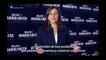 Margarita Zavala No Declinará Favor Ningún Candidato