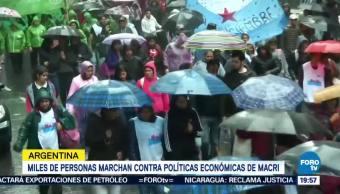 Miles Marchan Argentina Medidas Económicas Macri