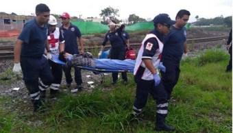 Menor resulta lesionada tras caer de tren en Nuevo Leó