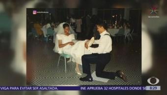Michelle Obama comparte foto íntima de su boda