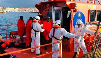 España rescata 366 migrantes en embarcaciones Mediterráneo