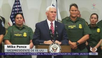 Mike Pence visitó la frontera con México