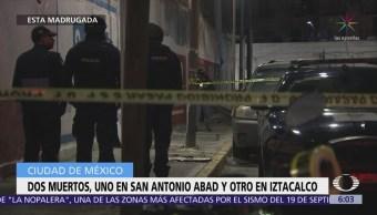 Mueren dos personas por disparos de arma de fuego en la CDMX