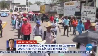 Ceteg Realiza Marchas Día Maestro Guerrero