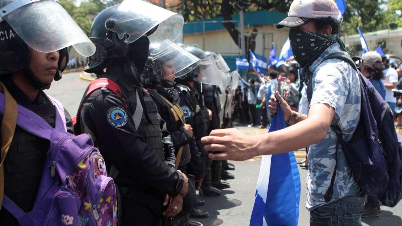 Nueva ola protestas Nicaragua deja cuatro heridos